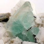 Fluorite With Schorl on Feldspar