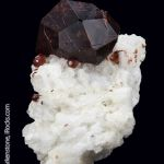 Spessartine Garnet on Albite