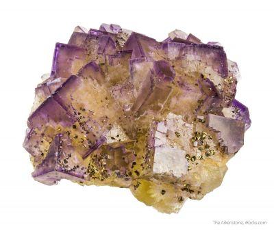 Fluorite and Chalcopyrite