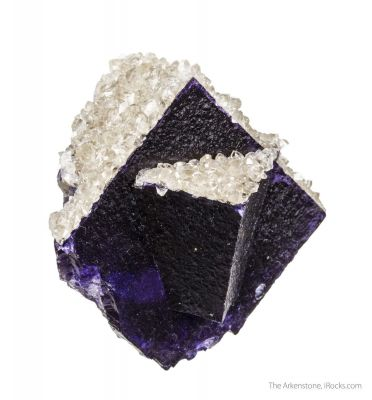 Fluorite (twinned) with Calcite