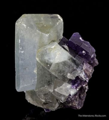 Celestine with Fluorite (rare combination)