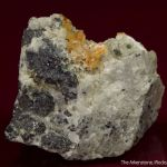 Quintinite-2H with Strontianite, Phlogopite, and Magnetite on carbonatite