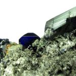 Azurite and Cerussite, with Calcite