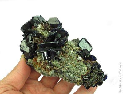 Azurite and Cerussite, with Calcite