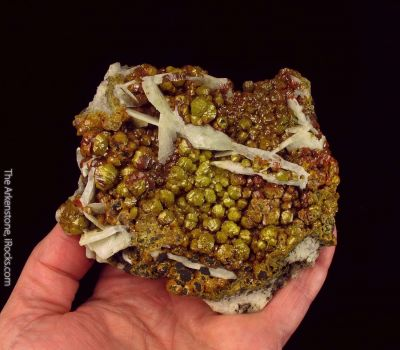 Mimetite var. Campylite, with Baryte