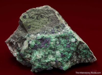Umangite with Malachite