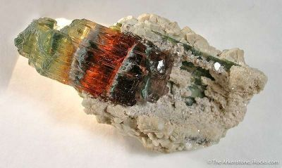Tourmaline in Cast Of Cookeite After Tourmaline