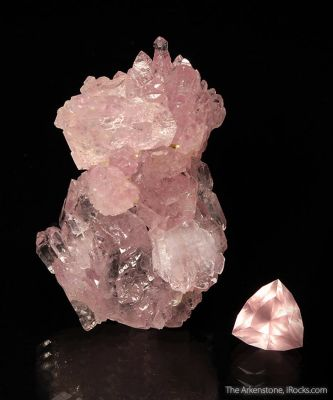 Rose Quartz (rough and cut set)