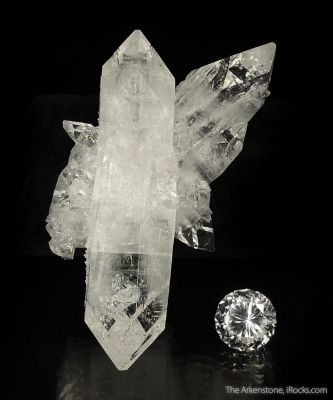 Fluorapophyllite (rough and cut set)