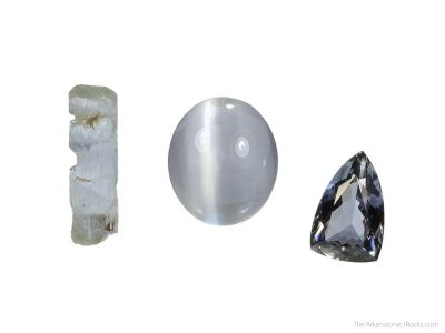 Sillimanite (3 piece rough and cut set)