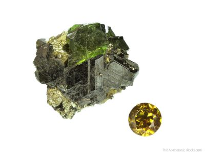 Sphalerite (rough and cut set)