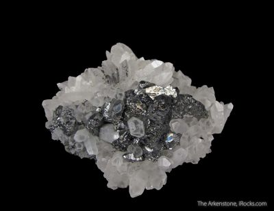 Bournonite and Quartz (rare locale)