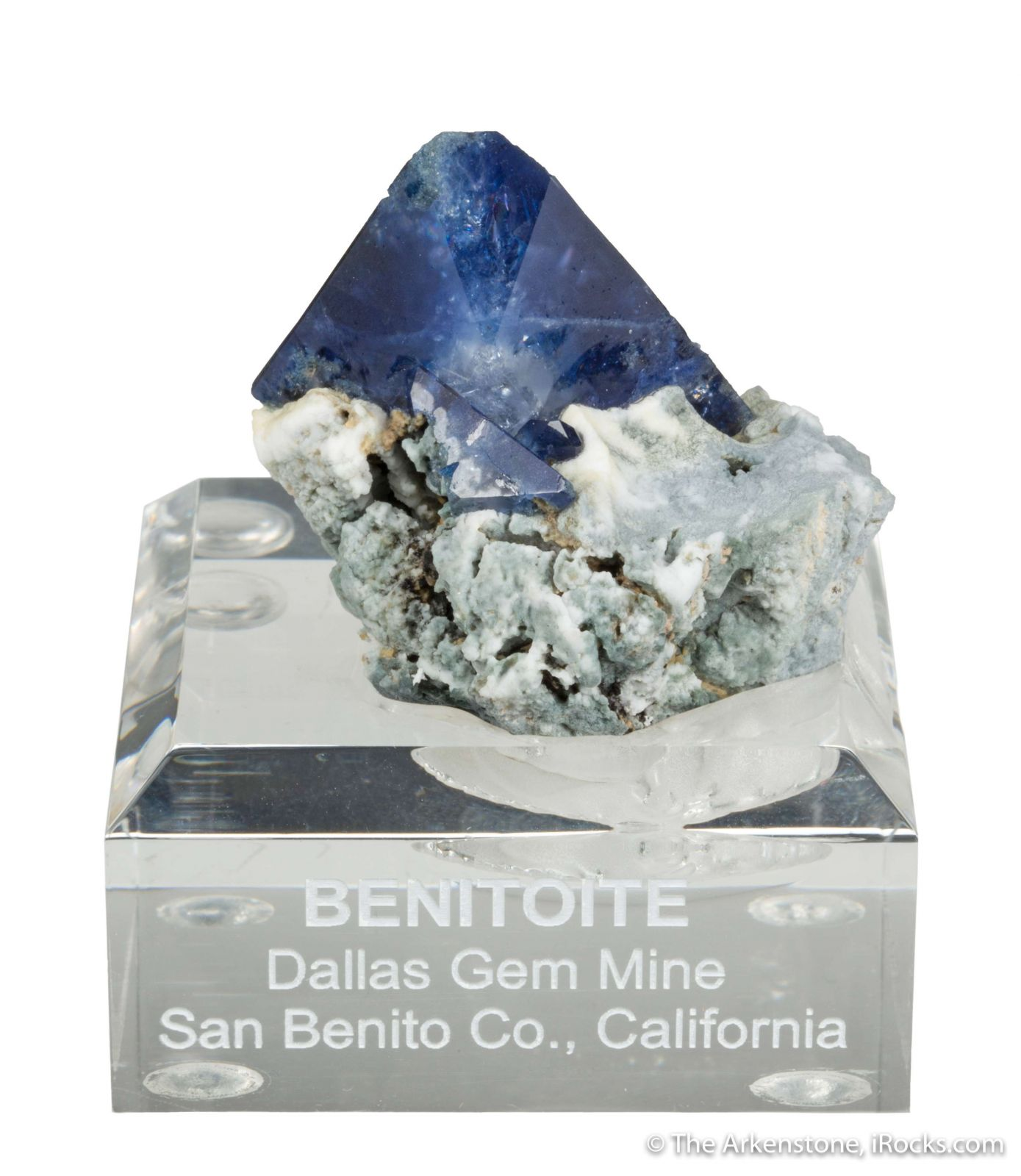 Benitoite (huge crystal on matrix)