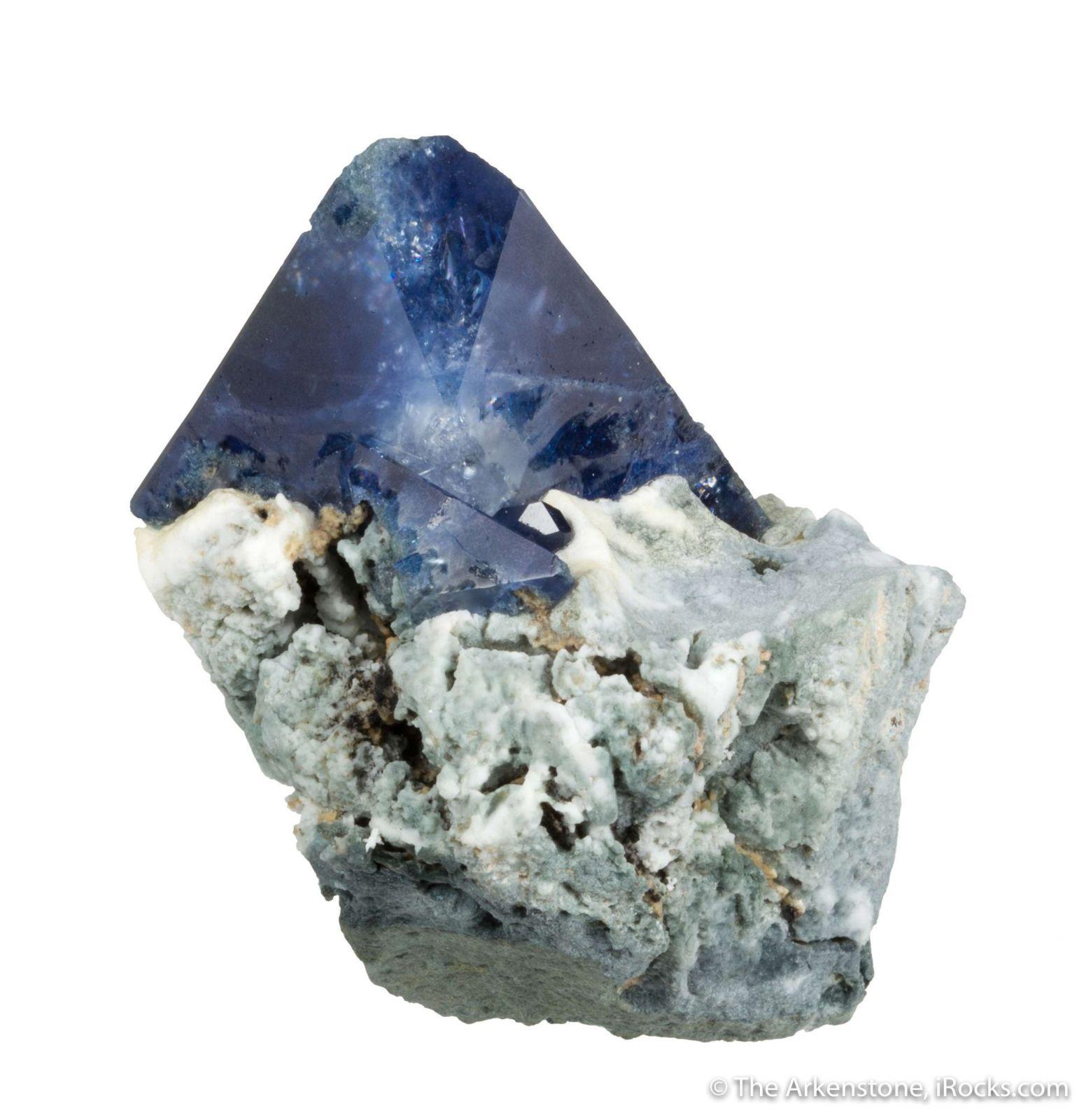 Benitoite (huge crystal on matrix)