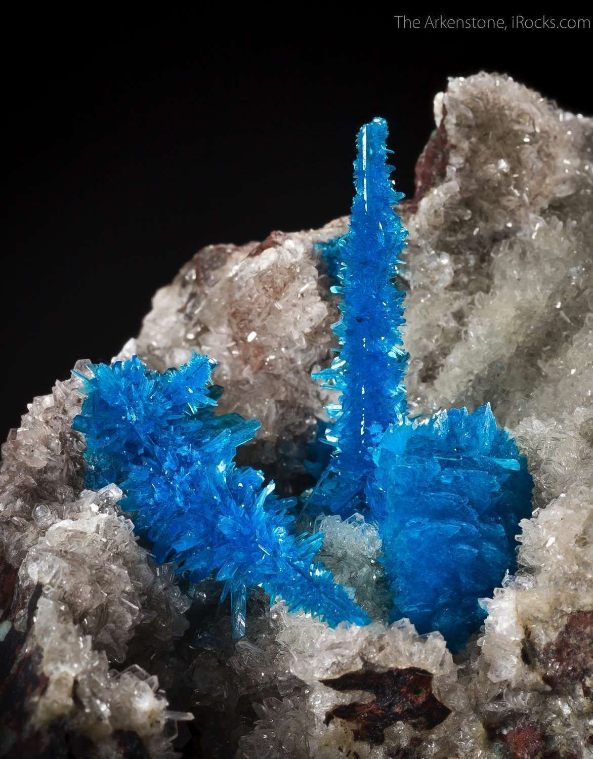 Pentagonite with Cavansite