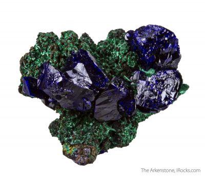 Malachite on Azurite