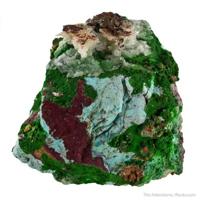 Conichalcite with Halloysite and Calcite