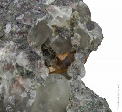 Greenockite with Prehnite (type locality)