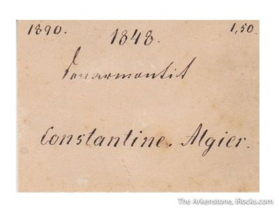 Senarmontite (circa 1848)