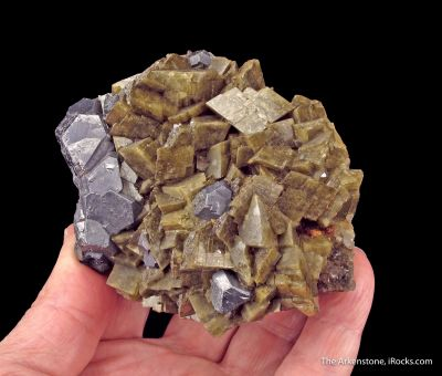 Galena and Siderite on Quartz