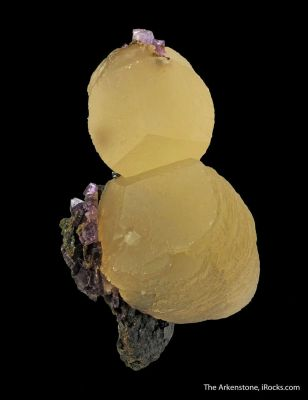 Calcite (fl) with Fluorite and Sphalerite
