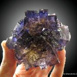 Fluorite (fl) and Chalcopyrite with Calcite