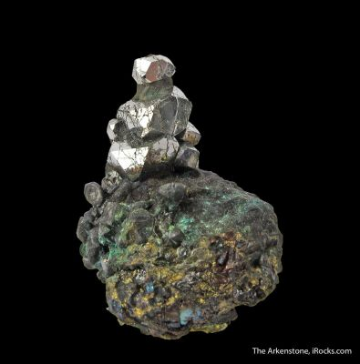 Sperrylite on Chalcopyrite