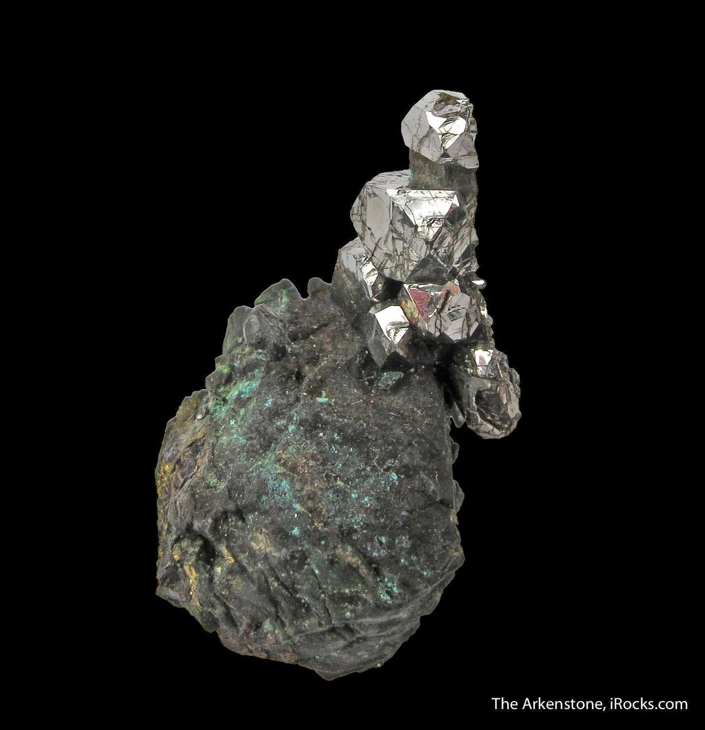 Siberia Platinum: Sperrylite On Chalcopyrite