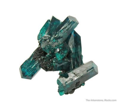 Dioptase (gem crystals)