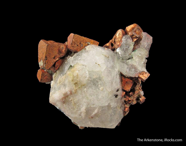 Copper On Analcime Jwl16 58 Phoenix Mine Usa Mineral