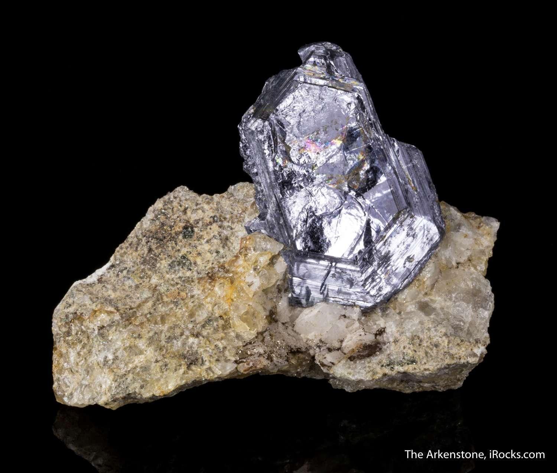 Molybdenite on Quartz - D16-52 - Crown Point Mine - USA