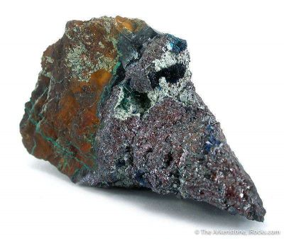 Connellite on Cuprite