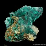 Malachite on Chalcocite ps. Covellite