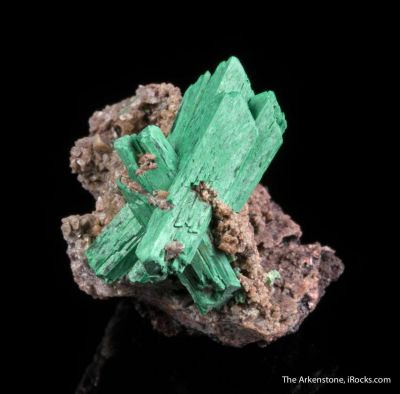 Malachite ps. after Barite
