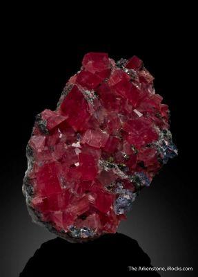 Rhodochrosite, Tetrahedrite, Fluorite