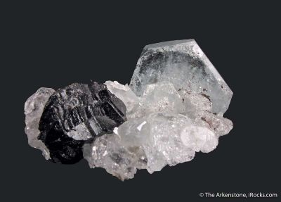 Beryl var. Aquamarine and Cassiterite