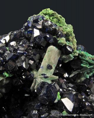 Azurite and Cerussite on Arsentsumebite