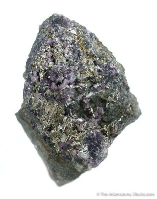 Calaverite With Fluorite