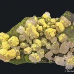 Mimetite, Cerussite, Mottramite, Calcite