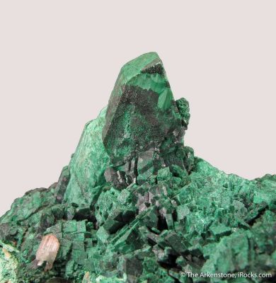 Malachite ps. Azurite, with Cerussite