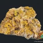 Tsumcorite (TL) on Tennantite and Quartz
