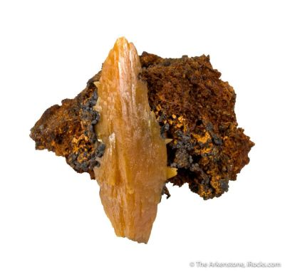 Wulfenite (large bipyramidal crystal)