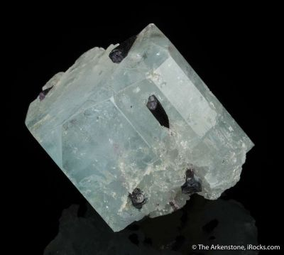 Blue Topaz with Tourmaline