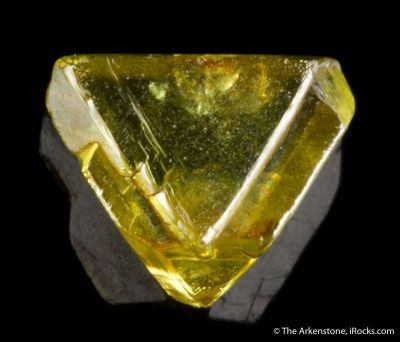 Yellow-Green Diamond (macle twinned)
