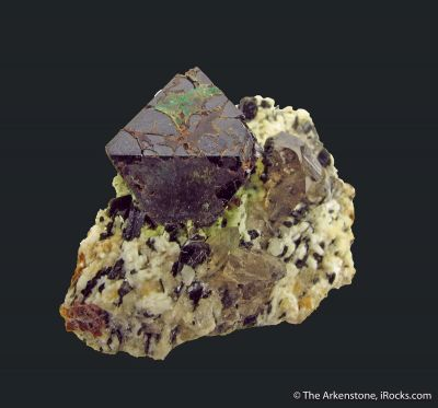 Cafarsite with Agardite and Smoky Quartz
