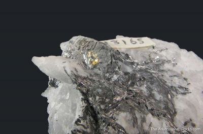 Cosalite with Gold, on Quartz