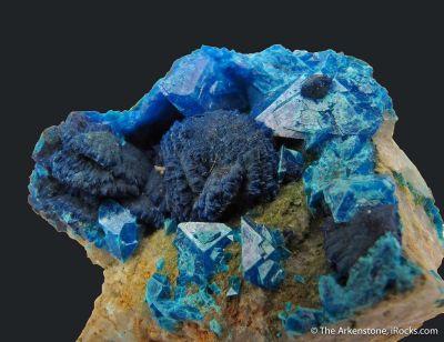 Liroconite (TL) with Turquoise var. Henwoodite