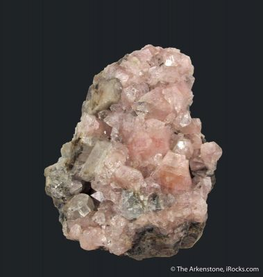 Pink Fluorapophyllite-(K) on Calcite