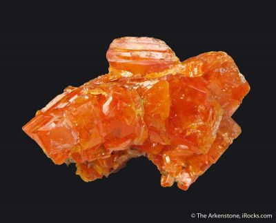 Wulfenite with Hyalite Opal (fl)