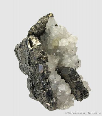 Bournonite and Quartz (circa mid 1800's)